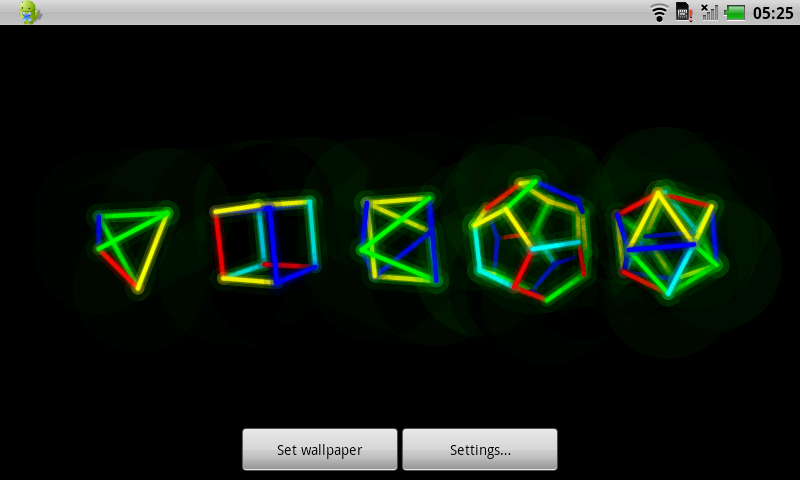 Android Polyhedra Live Wallpaper
